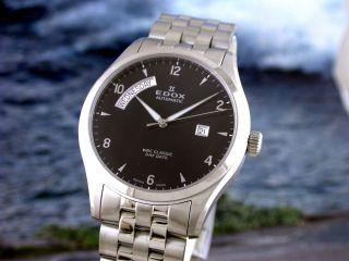 Edox Wrc Classic Day Date Automatik Herrenuhr Mit Glasboden 83013 3 Nin Bild