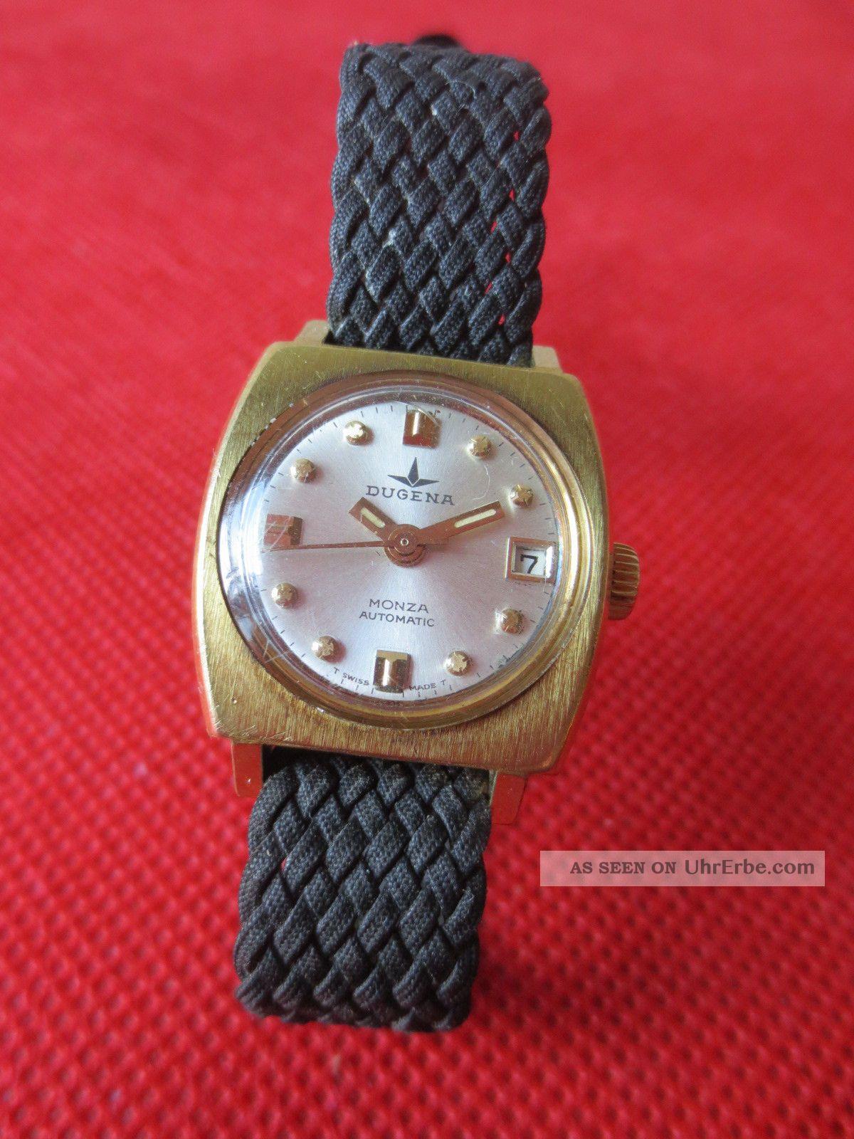 Dugena Monza Automatic Damen Armbanduhr - 3309 - Vintage Wristwatch - Selfwinding Armbanduhren Bild