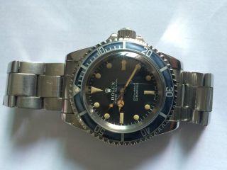 Rolex Submariner 5513 Kaliber 1520 Mit 7836 Band 1970 Bild