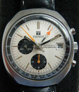 Tissot Navigator Chrono Vintage 1970er Lemania 1341 Hau Bild