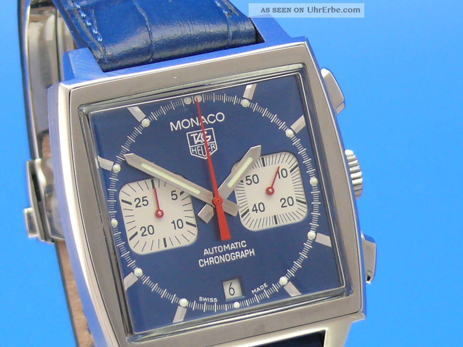 Tag Heuer Monaco Steve Mcqueen Cw2113 - - - Ankauf Von Luxusuhren - - - Armbanduhren Bild