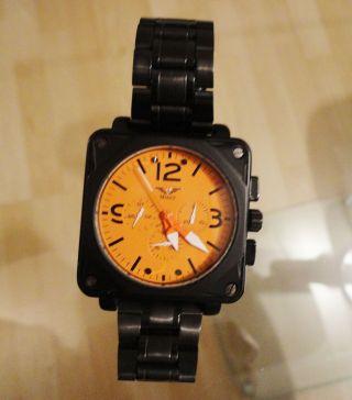 ☆ Minoir Automatik Uhr Albi Chronograph Neuwertig LÄuft ☆ Bild