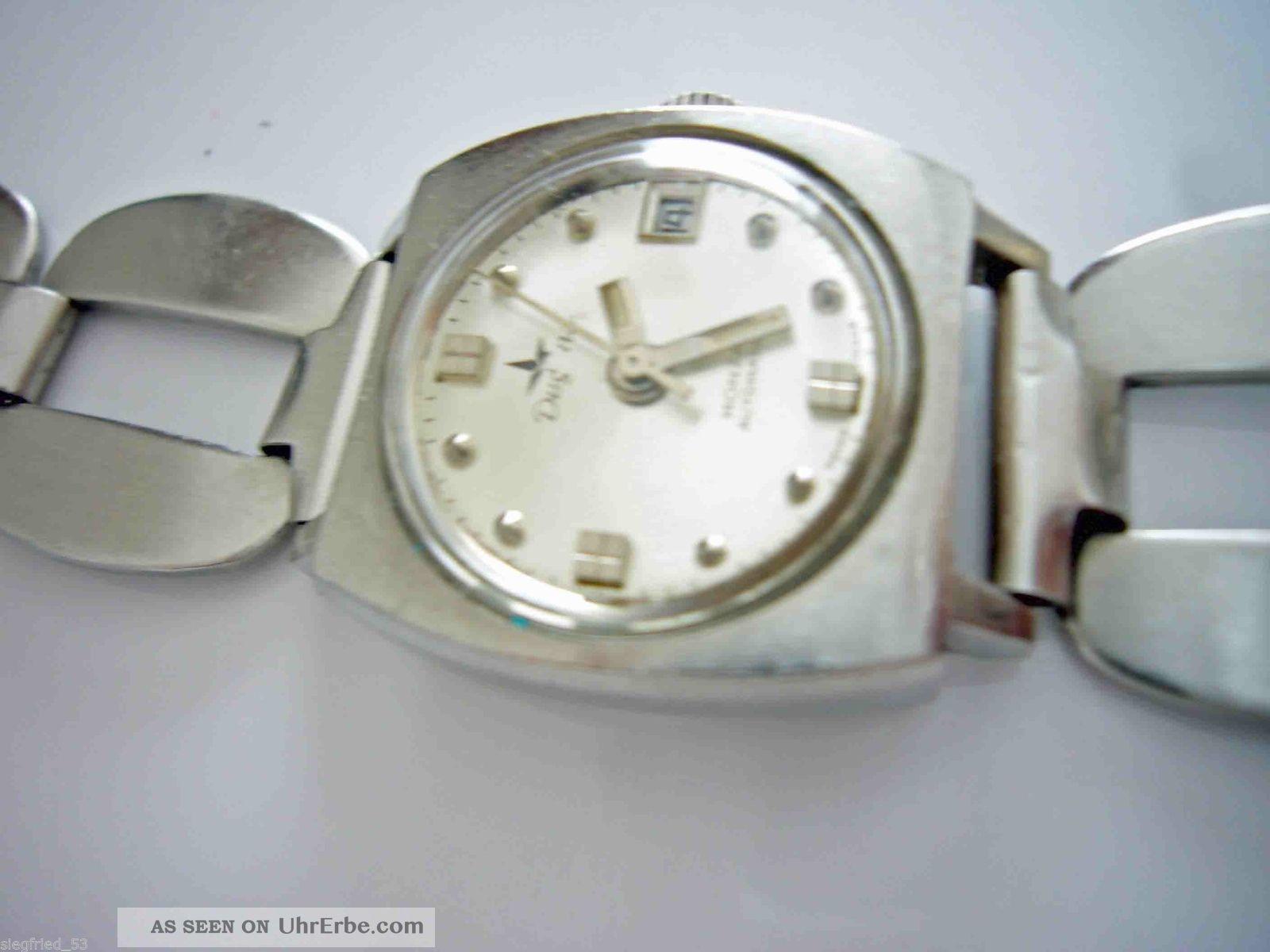 Dugena Monza Automatic Swiss Made Mit Datum Damenuhr Armbanduhren Bild
