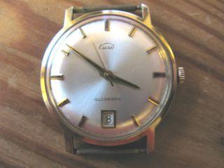 Herrenarmbanduhr Gold 585/14 Karat Eusi/eugen Siegele Uhr Gold 60er Bild