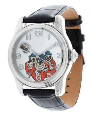 Disney Herren Armbanduhr,  Uhr,  Watch,  Panzerknacker Bande Schwarz Di - 094491 - Pkb1 Bild