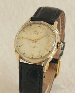 Longines Automatic Armbanduhr Herren Uhr Hau Watch Wristwatch Gold Pl.  1a Bild