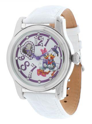 Disney Damen Armbanduhr,  Uhr,  Watch,  Donald & Daisy Weiss Di - 094491 - Dol2 Bild