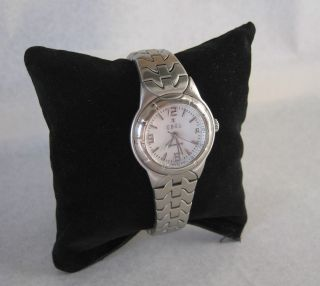 Ebel Automatic Typ E Uhr Damen 28 Mm Armbanduhr Zifferblatt Weiß Bild