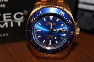 Nautec No Limit Xl Deep Sea Automatik Armbanduhr Ds At/gdgdblbl Bild