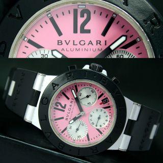 Bvlgari Aluminium Chronograph Automatik Datum Herren Uhr Watch & Armband Bild