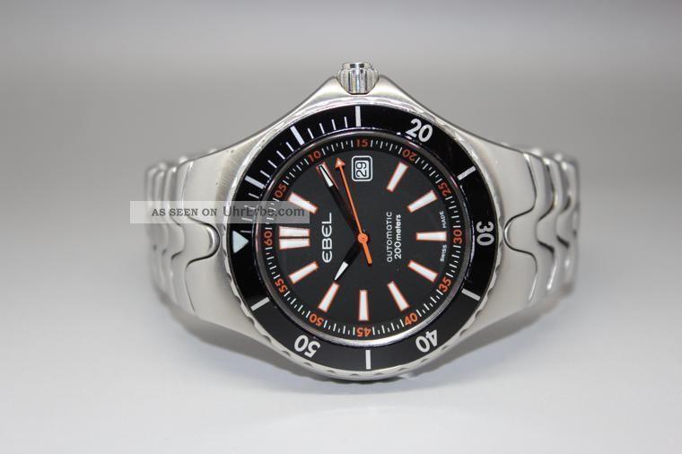 Ebel Sportwave Diver Stahl Uhr Armbanduhren Bild