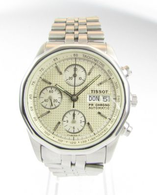 Tissot Pr 100 Day/date Sport Automatik Chronograph - Valjoux 7750 - Topzustand Bild