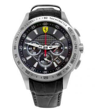 Armbanduhr Ferrari Scuderia 830039 Chrono Uhr 44mm Herren Schwarzleder Bild