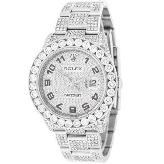 Armbanduhr Herren Nach Maß 14,  20 Kt.  Diamanten Automatisch Rolex Datejust 116200 Bild