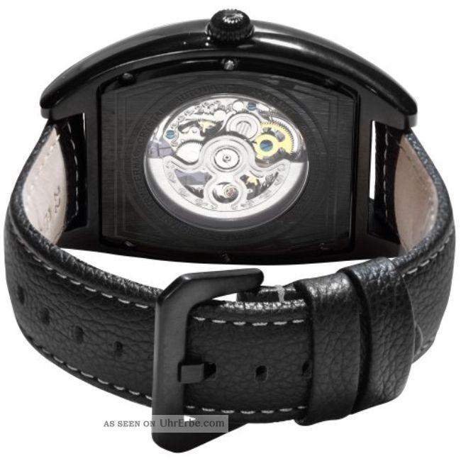 Herren Armbanduhr Akribosxxiv Automatik Leder Tonneau Ziffenblatt Armbanduhren Bild
