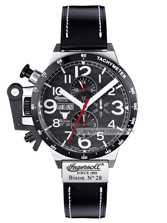 Ingersoll Uhr Bison Nr.  28 Herren - Automatikuhr In1607bk Armbanduhren Bild