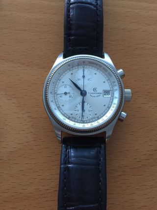 Chronoswiss Pacific 100 Chronograph In Edelstahl,  Ref.  7513; Cal.  Valjoux 7750 Bild