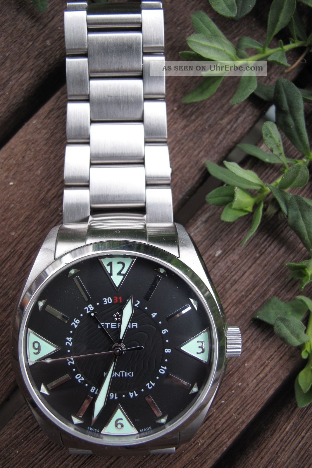 Eterna Kontiki Four Hands Xxl - Die 44mm - Version - Top - Armbanduhren Bild