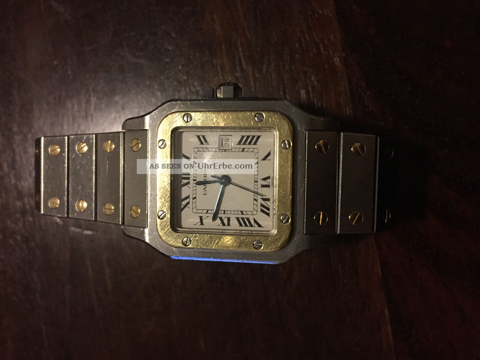 Cartier Galbée Herren Uhr Neuwertig Armbanduhren Bild