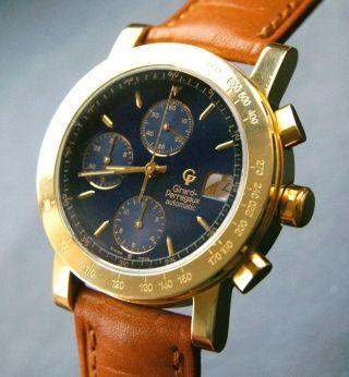 Girard Perregaux 7000 Gbm Gelbgold 18k 750 Automatik Herren Luxus Chronograph Bild