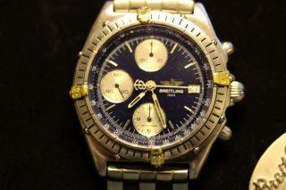 Breitling Chronomat Stahl Gold,  Ref 13047 Mit Box Bild