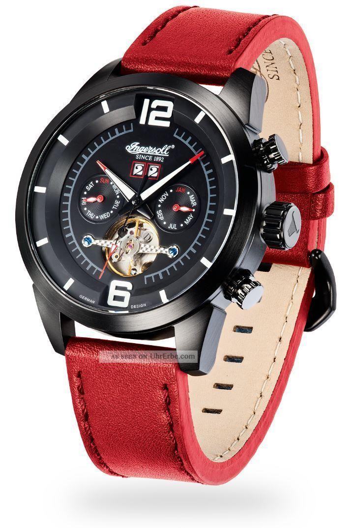 Ingersoll - Bison N0.  59 - In1707bkrd Herrenarmbanduhr Und Armbanduhren Bild
