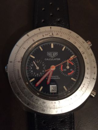Heuer Calculator Automatic Cal.  12 Vintage Chrono Bild