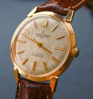 Ulysse Nardin Gelbgold 14k 585 Vintage Automatik Luxus Herren Chronometer 1960 Bild