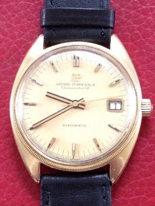 Girad Perregaux Chronometer Hf Gyromatic 750 Gold Rarrität Bild