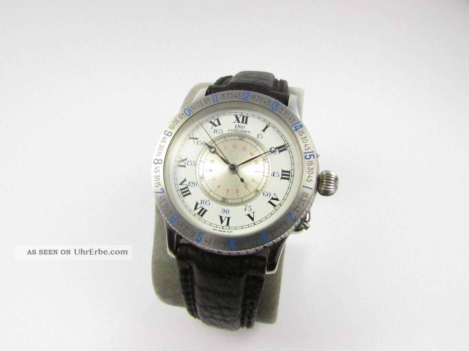 Longines Charles Lindbergh Stundenwinkel Hour Angel - Automatik - Navigationsuhr Armbanduhren Bild