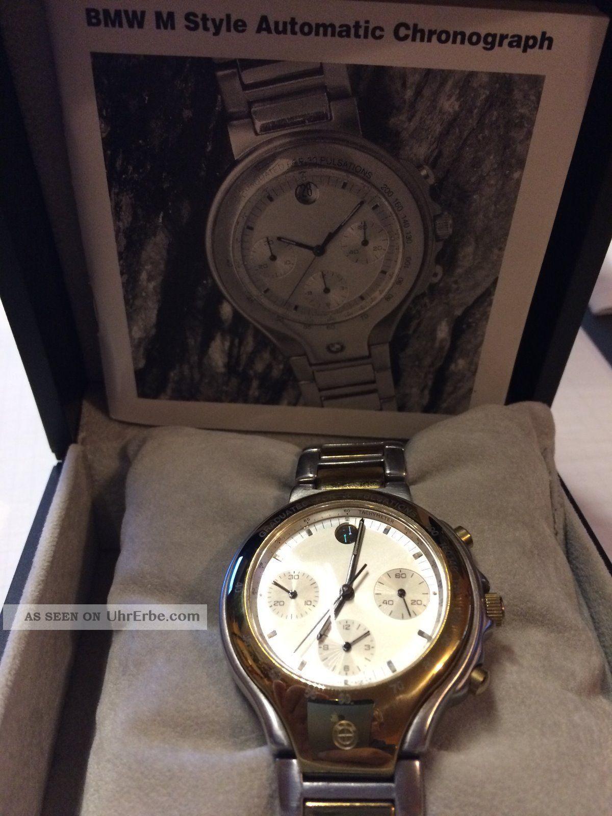 bmw uhr m style automatik chronograph