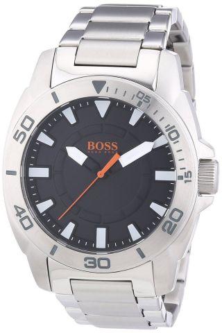 Hugo Boss Herren Uhr 1512946 Orange Kollektion Schwarz Ziffernblatt Edelstahl Bild