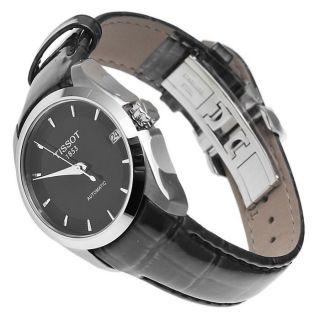 Damen Autom.  Armbanduhr,  Tissot T0352071605100 Couturier Schwarz Lederband Ovp Bild