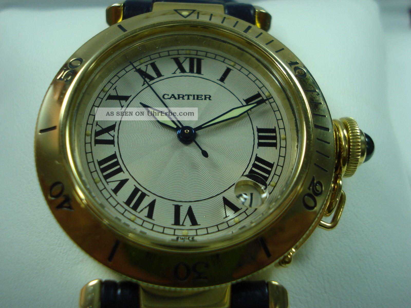 Cartier Pasha Armbanduhr In 18 Karat Gold Mit Cartier Uhrenbox Armbanduhren Bild