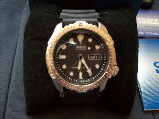 Seiko Scuba Divers 200 M 7s26 7020 Automatik Armbanduhr Edelstahllünette Top Bild