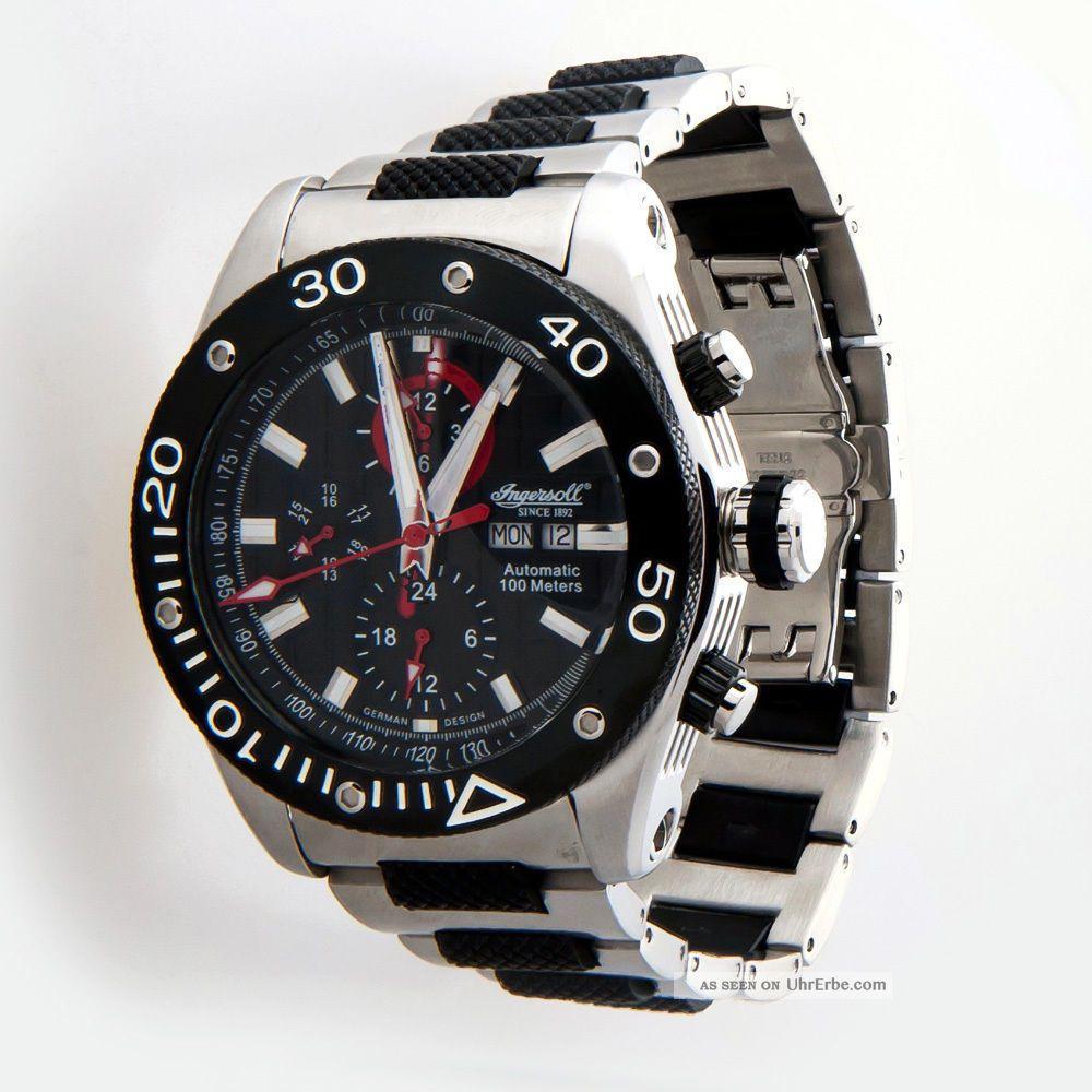 Ingersoll Chrono Palouse Automatik Herren Uhr Men Watch 1611 Und Ungetragen Armbanduhren Bild