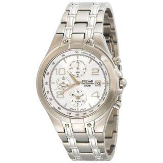 Herren Armbanduhr Pf3665 Pulsar Edelstahl Stoppuhr Datum Tachymeter Modisch Bild