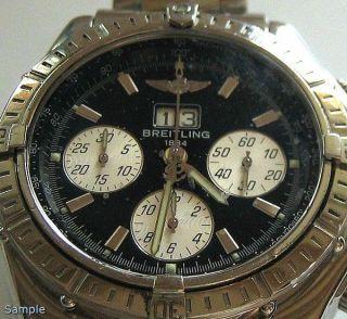 Hau Luxusuhr Breitling Chronometre Chronograph Automatik Crosswind Spezial Uhren Bild