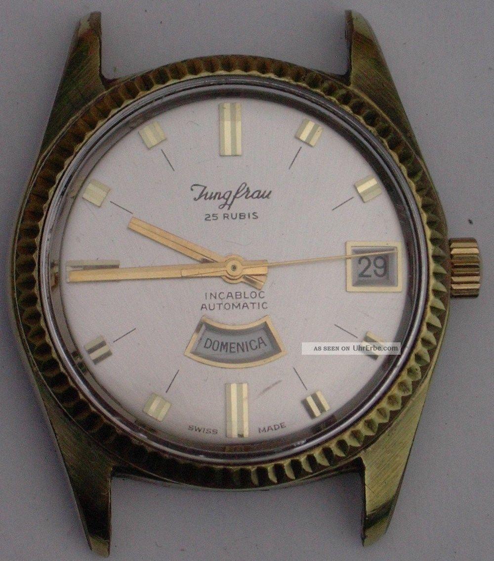 Jungfrau 25 Rubis Classic Swiss Gold Uhr Watch Automatic