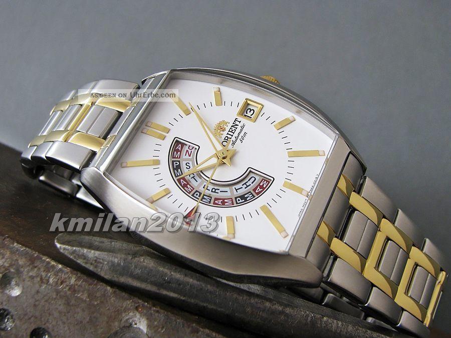 Orient Uhr Automatik Edelstahl,  Herrenuhr Analog Tag&datum Ffnaa003wh,  Ffnaa002wh Armbanduhren Bild