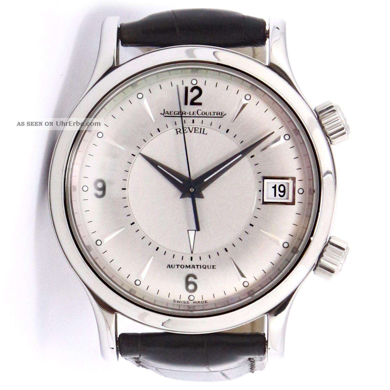 Armbanduhr Jaeger Lecoultre Master Reveil Edelstahl Automatische 141.  8.  97 Armbanduhren Bild
