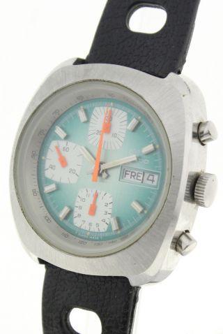 Ducado Stahl Schweiz Herren Automatik Chronograph - Ultracooles 1970ies Design Bild