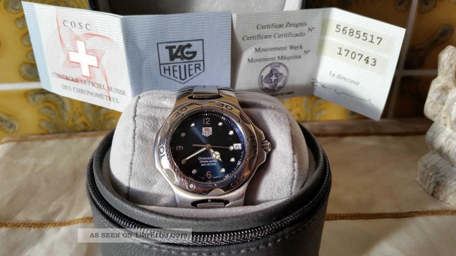 Herrenuhr Tag Heuer Kirium Chronometer Automatik Wl 5113 Armbanduhren Bild