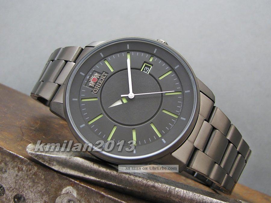 Orient Disk Uhr Automatik Edelstahl Herrenuhr Datumsanzeige Fer02006a0 Armbanduhren Bild