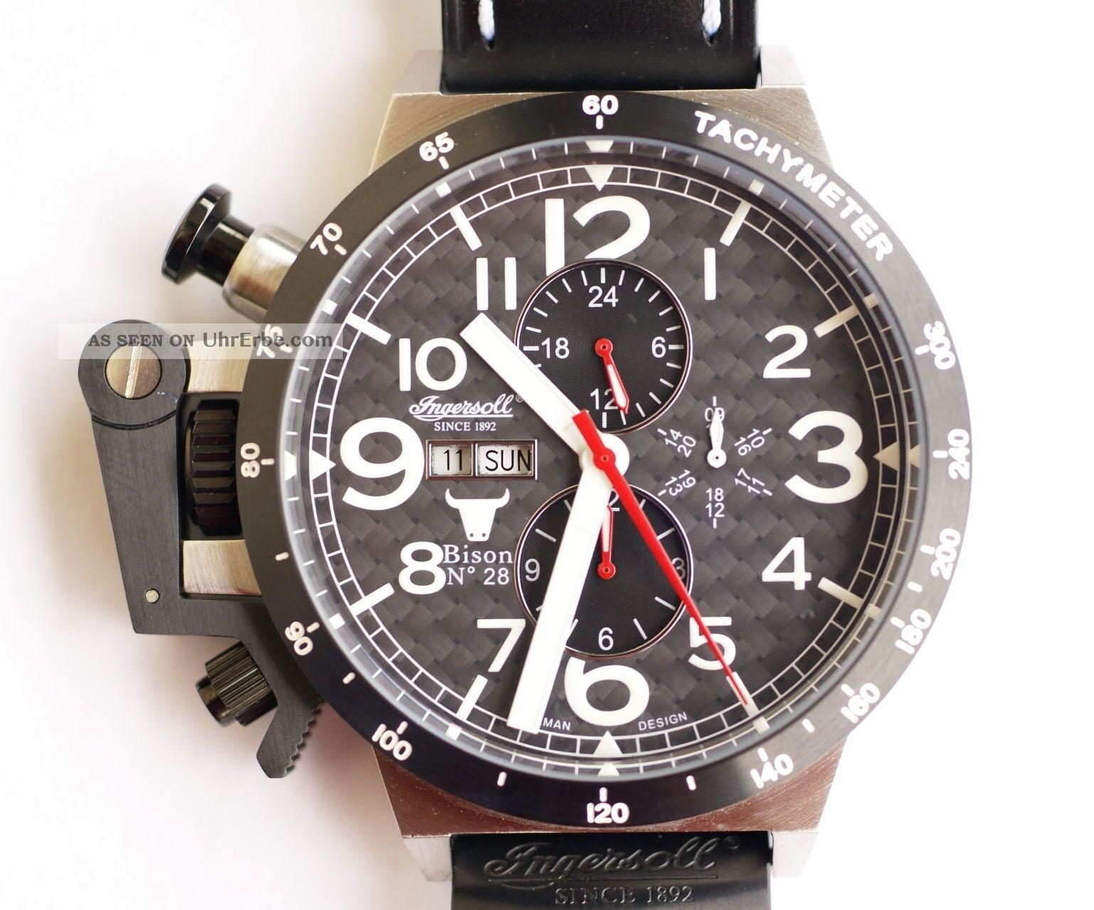 Ingersoll Bison No.  28 - Schwarz,  In1607bk Armbanduhren Bild