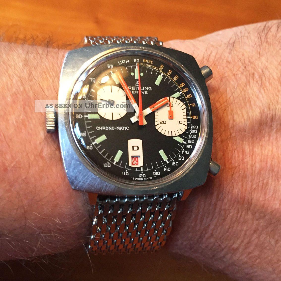Breitling Chrono - Matic Kaliber15 - 70er Jahre - Ref.  : 2111 - 15 Komplett überholt Armbanduhren Bild