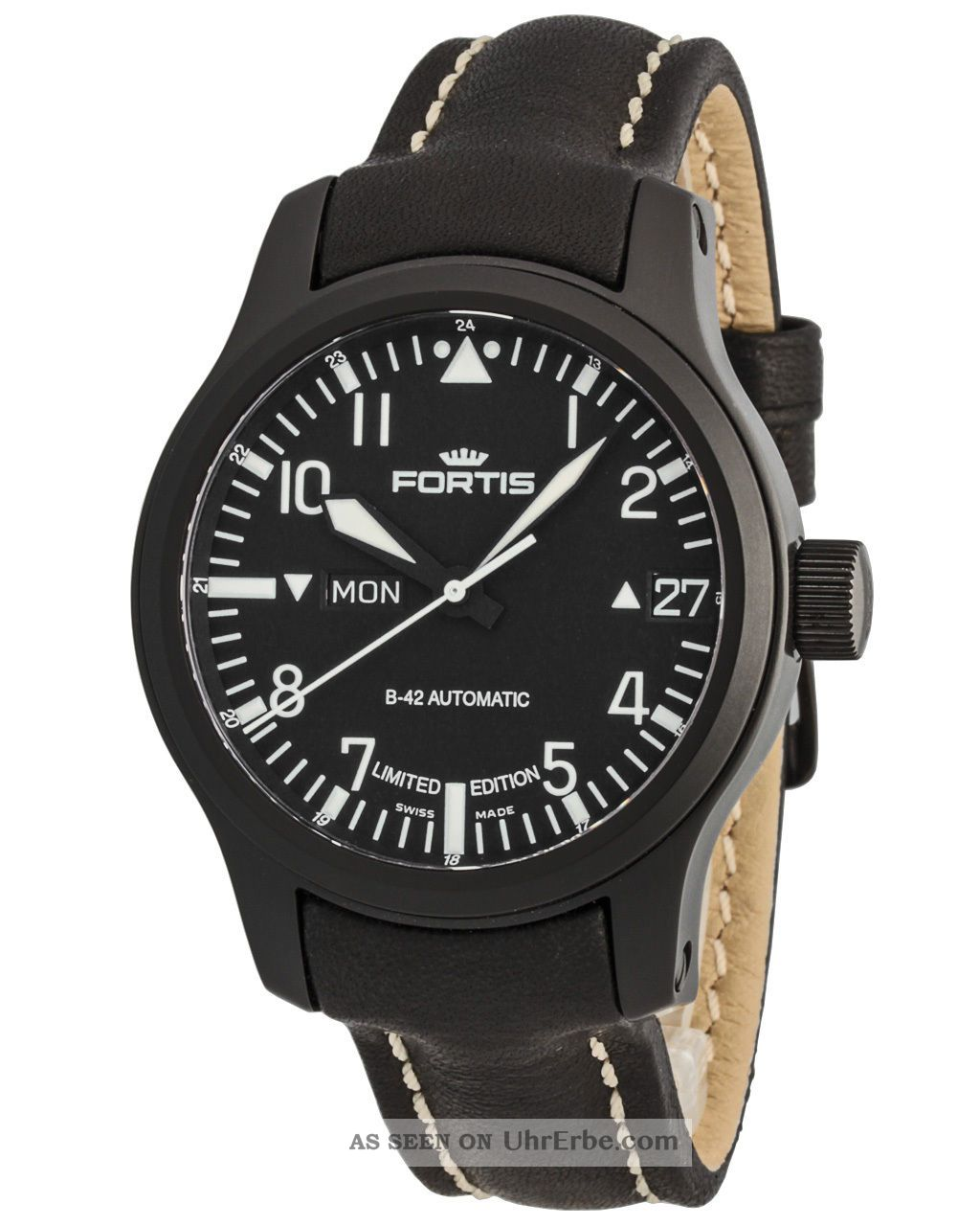 Fortis B - 42 Flieger Black Automatic Day/date Limited Edition 655.  18.  91 L01 Armbanduhren Bild