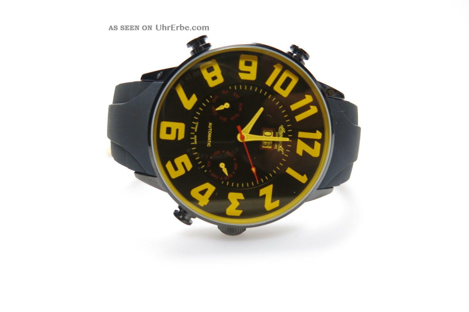 Ingersoll Yellowstone In2811bkyi Herrenuhr Schwarzes Kautschuckband Automatic Armbanduhren Bild