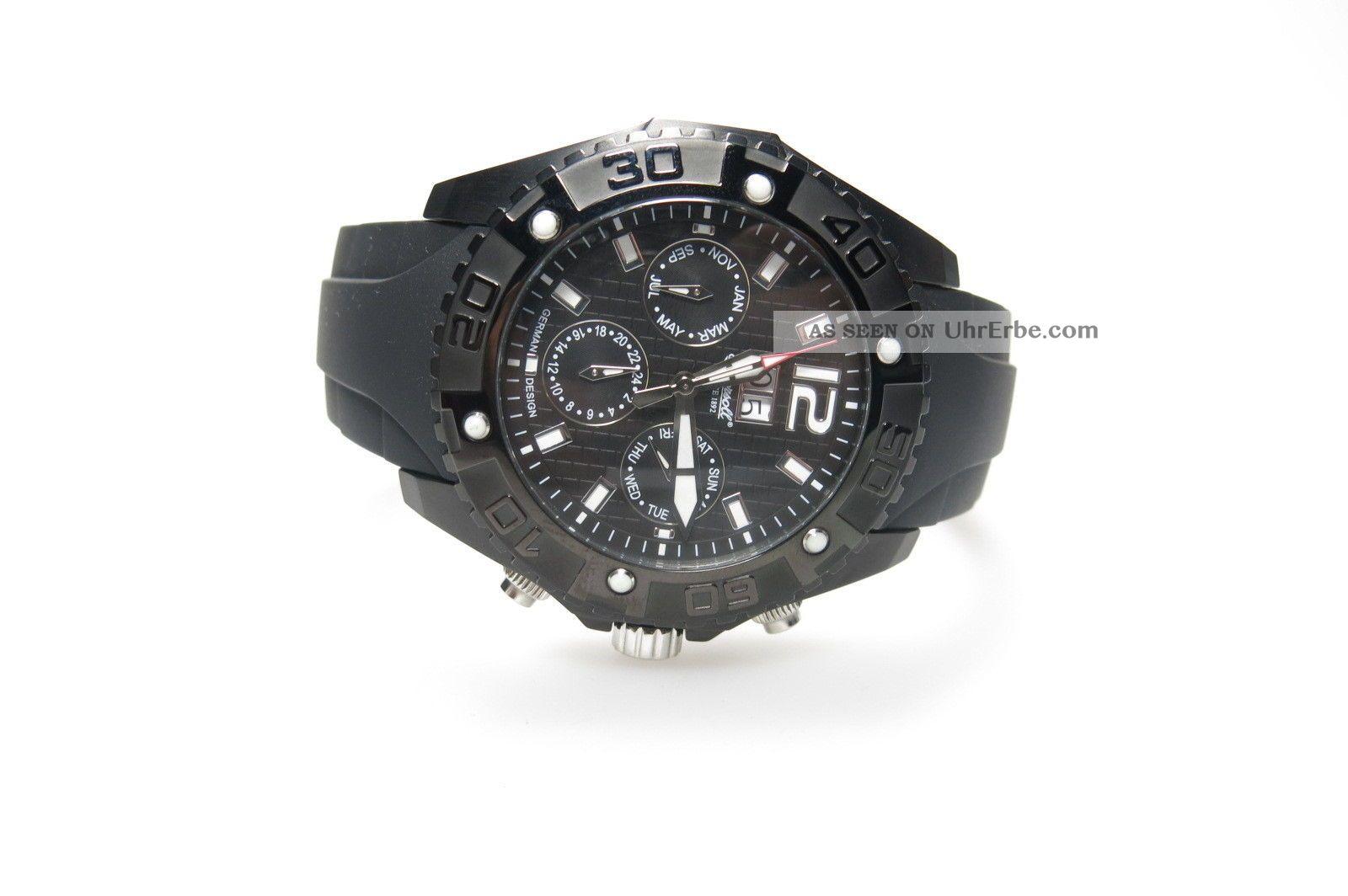 Ingersoll Yuca In 1210 Bbk Herrenuhr Schwarz Kautschuckband Automatik Np:279€ Armbanduhren Bild