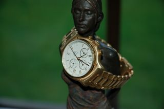 Ebel 1911 Chronograph,  18k 750 Gold,  Automatik,  Herrenuhr,  Neuwertig Bild